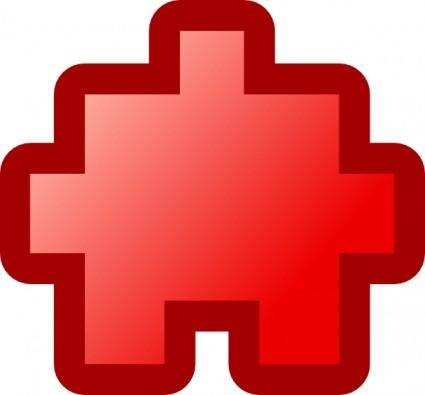 Jean Victor Balin Icon Puzzle Red clip art