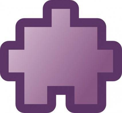 Jean Victor Balin Icon Puzzle Purple clip art