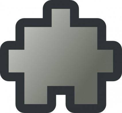free vector Jean Victor Balin Icon Puzzle Grey clip art