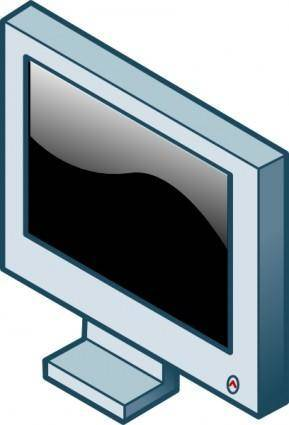 free vector Rg Isometric Lcd Screen clip art
