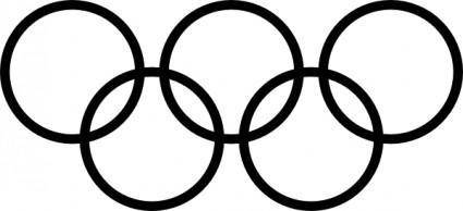 Olympic Rings Icon clip art