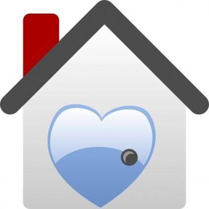 free vector Barretr House Love clip art