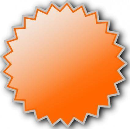 Noonespillow Basic Starburst Badge clip art