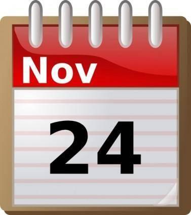Alcaline Spiral Calendar clip art
