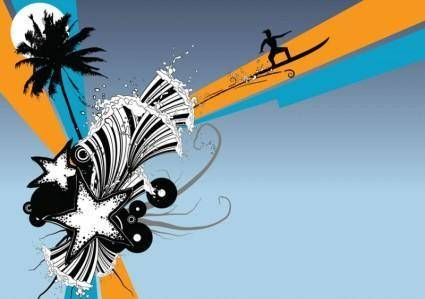 free vector Beach Surf Graphics