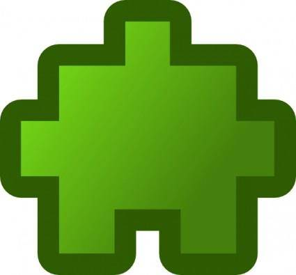 Jean Victor Balin Icon Puzzle Green clip art