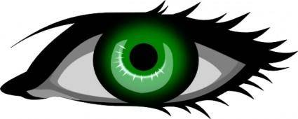 free vector Green Eye clip art
