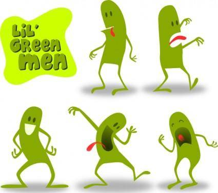 free vector Kablam Lil Green Men clip art