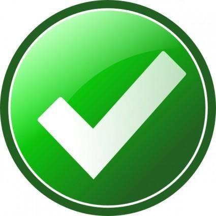 Green Checkmark clip art