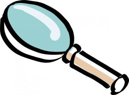 free vector Bitterjug Magnifying Glass clip art