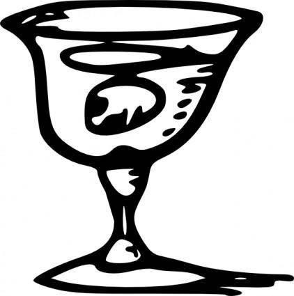 free vector Tom Wine Glass clip art