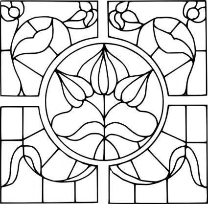 free vector Stained Glass Motif clip art
