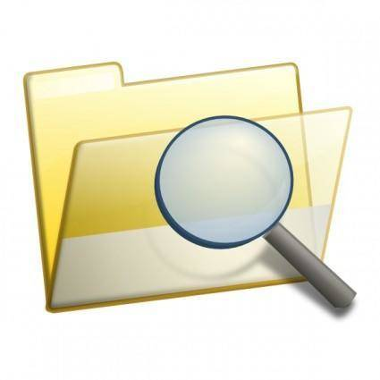 free vector Simple Folder Seek clip art