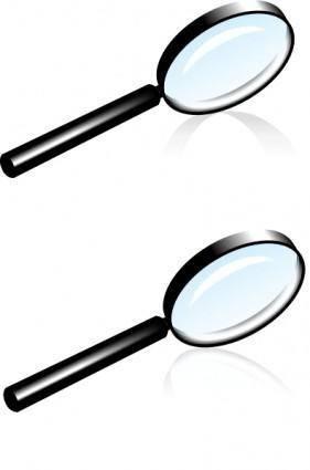 Magnifying Glass Lens clip art