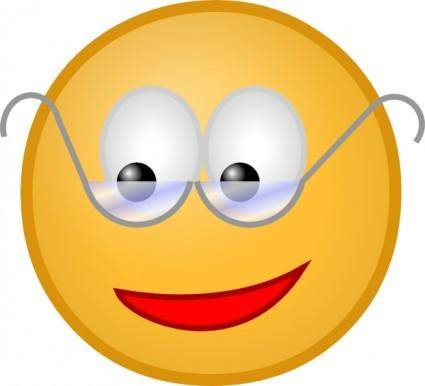 free vector Smiley With Glasses clip art