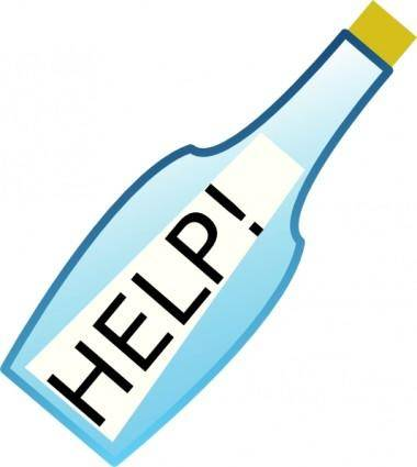 Message In A Bottle  clip art