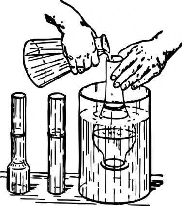 Chemistry Experiment clip art