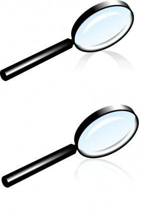 free vector Rihard Magnifying Glass clip art