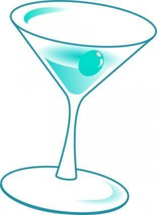 Liquor Glass Cup With Cherry clip art