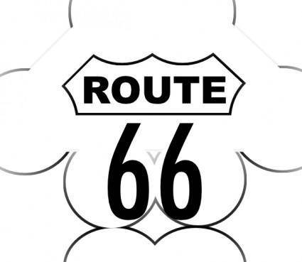 Route 66 Usa Highway clip art