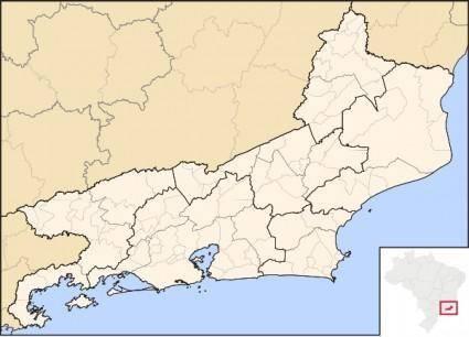 free vector Rio De Janeiro Map clip art