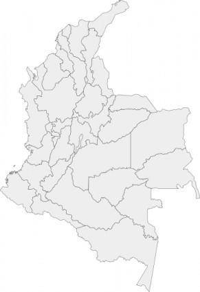 free vector Divisions Of Colombia Map clip art