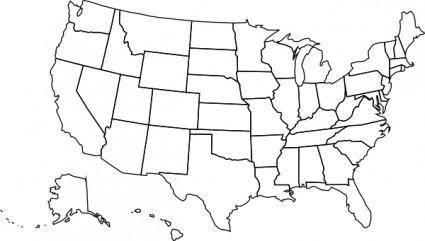 free vector Usa Political Map clip art