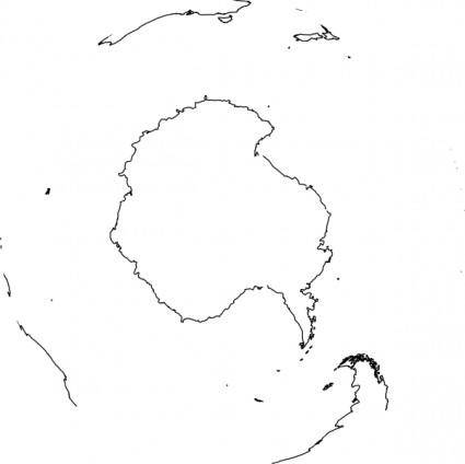 Antarctica Viewed From Space clip art