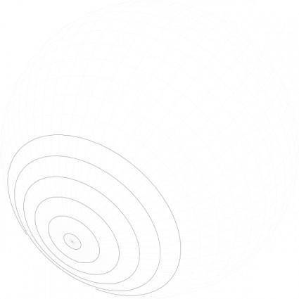 Geometric Grid Of Latitude And Longitude clip art