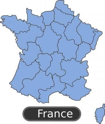 Map Of France clip art