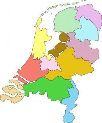 Netherland Nederland Map clip art