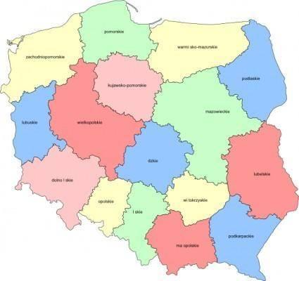 Poland Provinces clip art