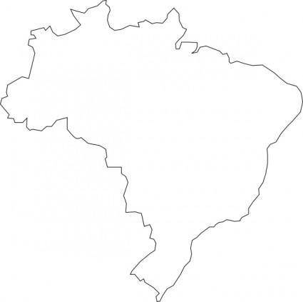 Nferraz Brazilian Map clip art