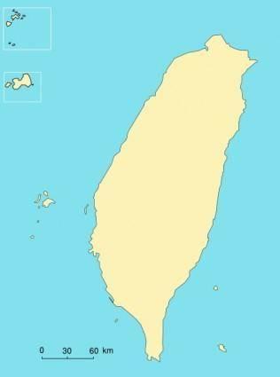 Taiwan Map clip art