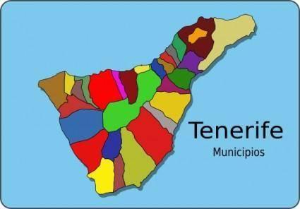 Municipios Tenerife clip art
