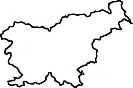 Map Of Slovenia (in Europe) clip art