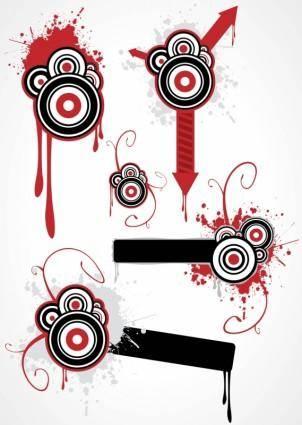 free vector Grunge Circles & Arrows