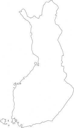 Map Of Finland clip art