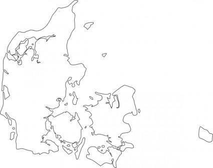 free vector Map Of Denmark clip art