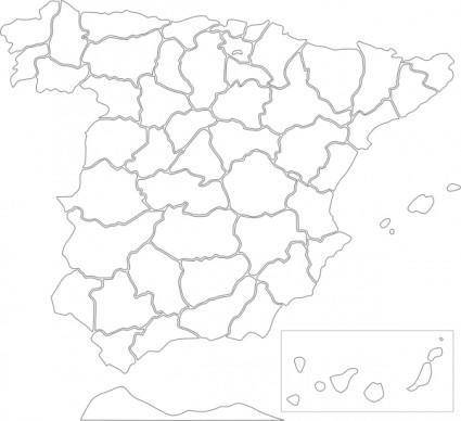free vector Spain Provinces clip art
