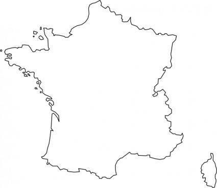 Carte De France clip art