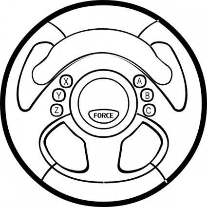 Force Feedback Wheel clip art