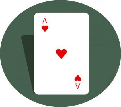 free vector Ace Of Hearts clip art