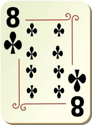 Ornamental Deck Of Clubs clip art