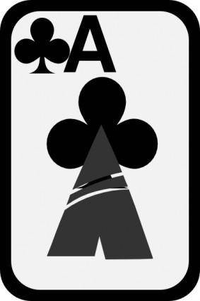 Ace Of Clubs clip art