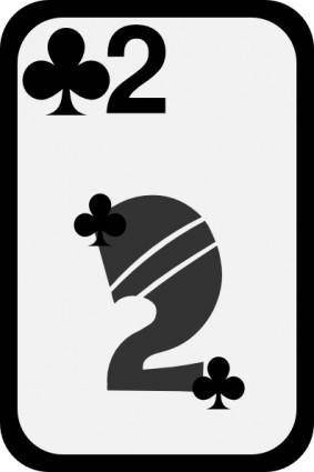 Two Of Clubs clip art