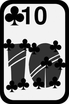 Ten Of Clubs clip art