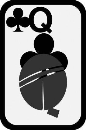 Queen Of Clubs clip art