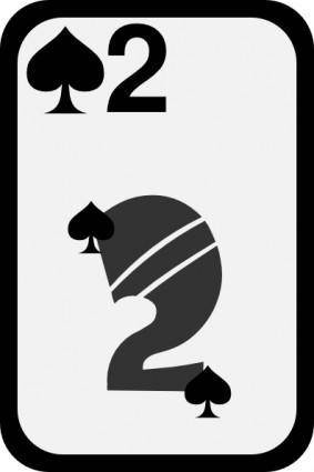 free vector Two Of Spades clip art