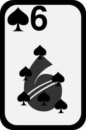 free vector Six Of Spades clip art